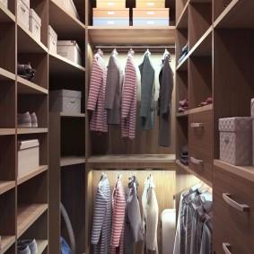 гардеробная комната 2 на 2 оформление