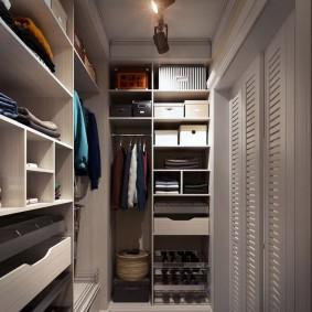 гардеробная комната 4 кв м интерьер фото