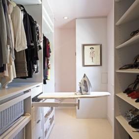 гардеробная комната 4 кв м варианты фото