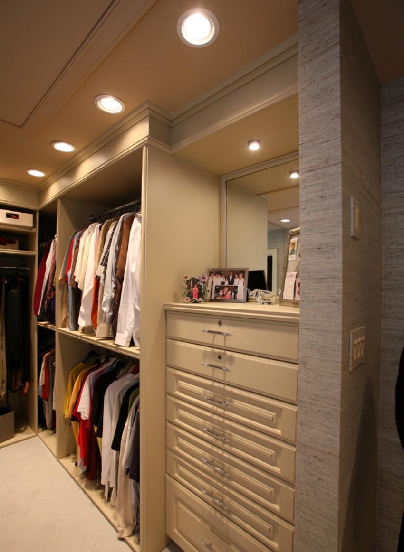 гардеробная комната освещение