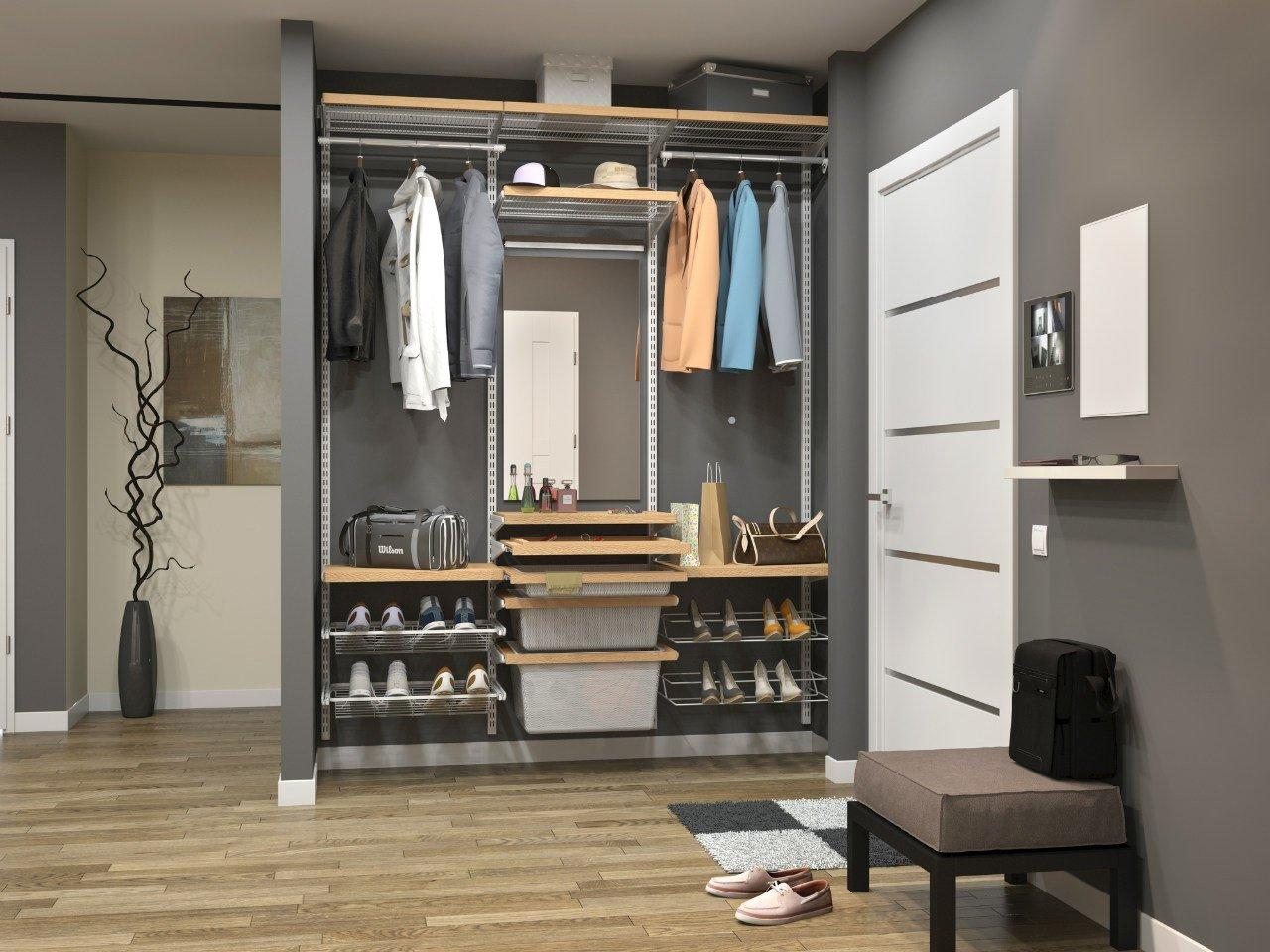 гардеробная с местом для обуви