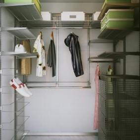 гардеробная в кладовке фото обустройство