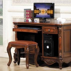 гостиная с компьютерным столом дизайн идеи