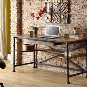 гостиная с компьютерным столом идеи декора
