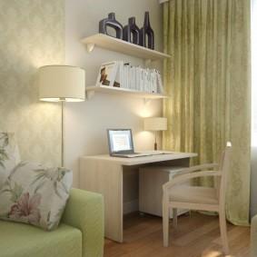 гостиная с компьютерным столом фото оформление
