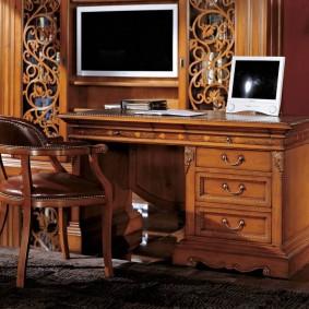 гостиная с компьютерным столом варианты идеи