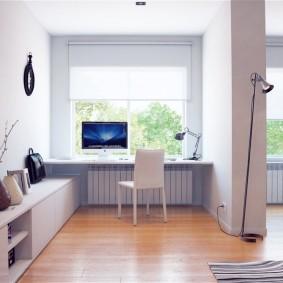 гостиная с компьютерным столом виды фото
