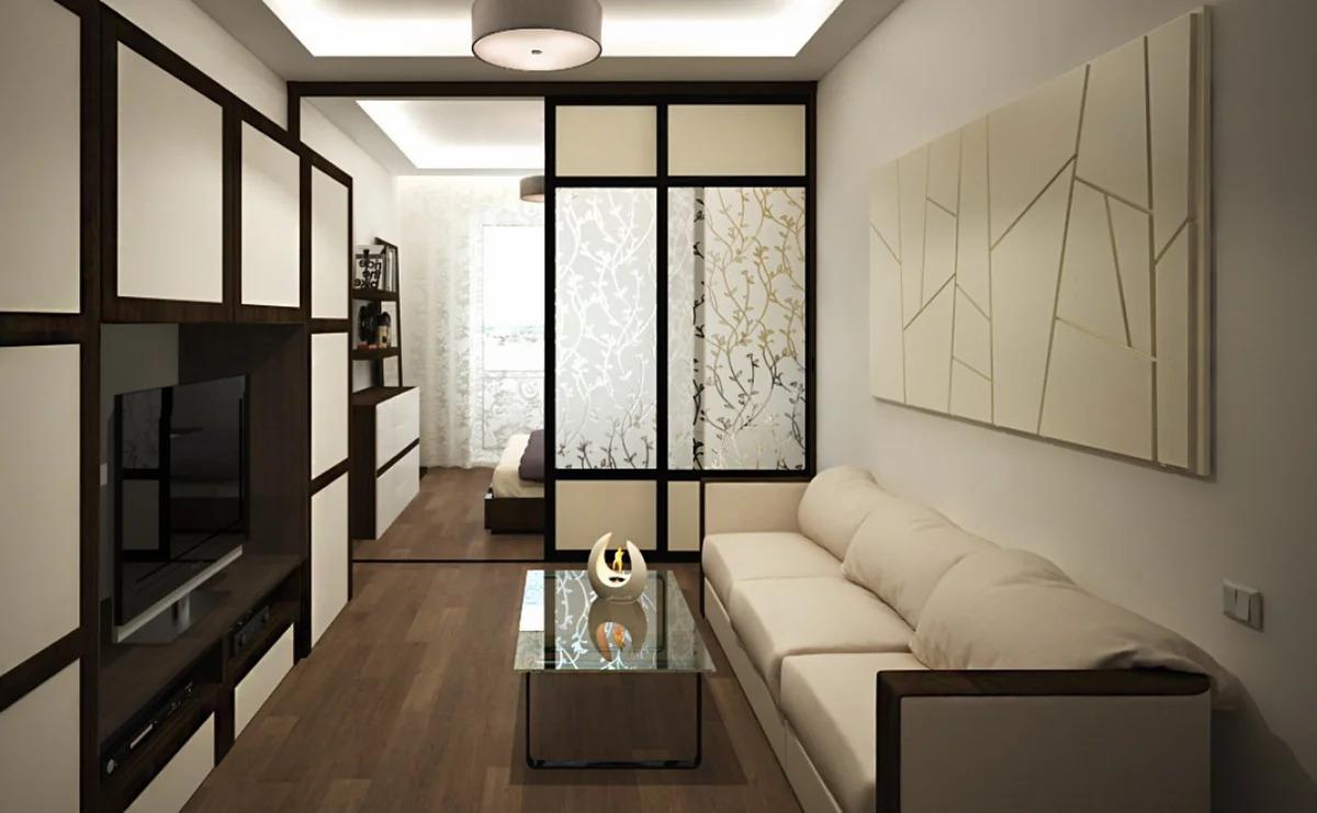 гостиная спальня варианты