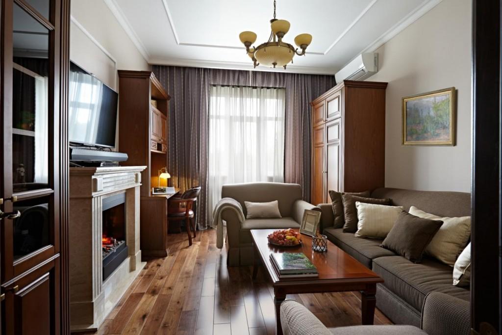 Интерьер гостиной комнаты в сталинском доме