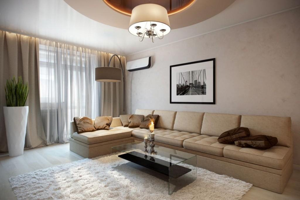 Угловой диван в 3 комнатной квартире панельного дома