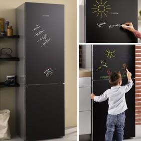 холодильник с грифельным покрытием
