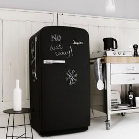 холодильник с грифельным покрытием фото