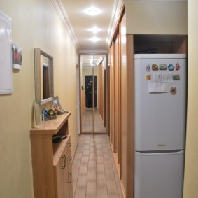 холодильник в прихожей и коридоре декор