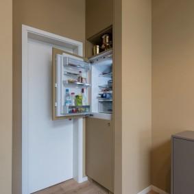 холодильник в прихожей и коридоре интерьер идеи