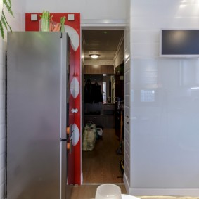 холодильник в прихожей и коридоре идеи интерьер