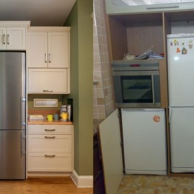 холодильник в прихожей и коридоре виды
