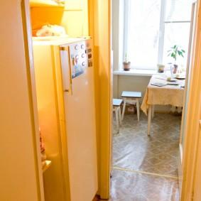 холодильник в прихожей и коридоре фото виды