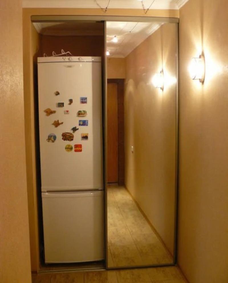 холоильник встроенный в шкаф купе