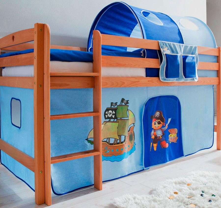 Детская кровать-чердак с игровой зоной