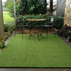 искусственный газон для дачи оформление идеи
