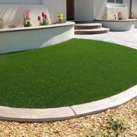 искусственный газон для дачи идеи вариантов