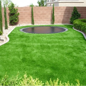 искусственный газон для дачи фото виды