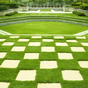 искусственный газон для дачи обзор фото