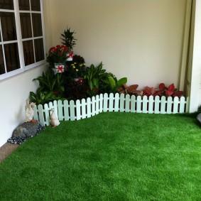 искусственный газон для дачи обзор идеи