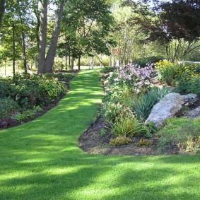 искусственный газон для дачи дизайн