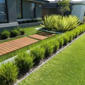 искусственный газон на даче идеи фото
