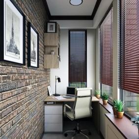 кабинет на балконе дизайн идеи