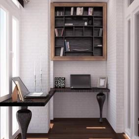кабинет на балконе фото идеи