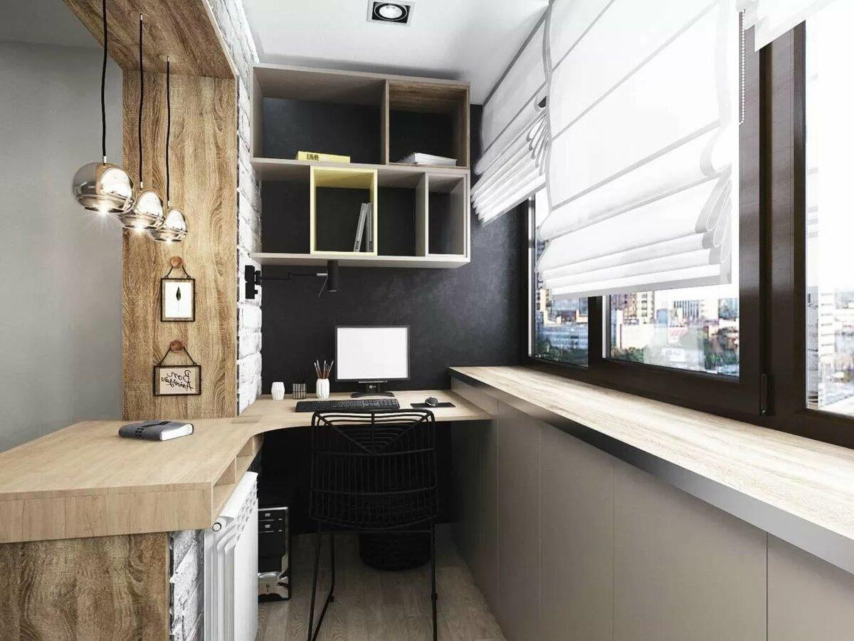 кабинет на балконе фото