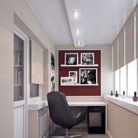 кабинет на балконе идеи