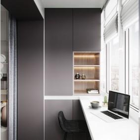 кабинет на балконе идеи дизайн