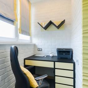 кабинет на балконе идеи дизайна