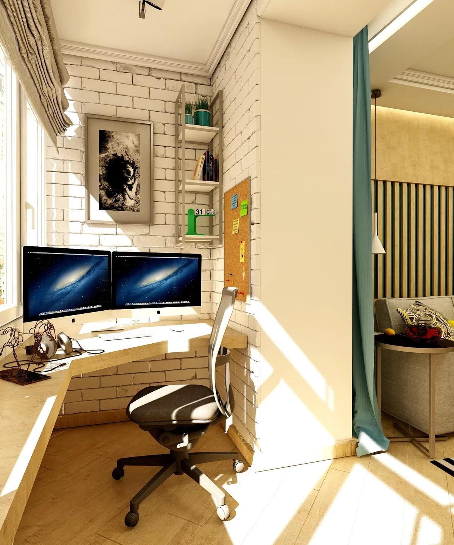 кабинет на балконе идеи интерьера