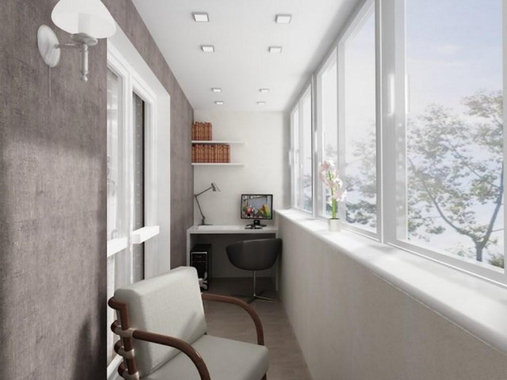 кабинет на балконе отделка пола