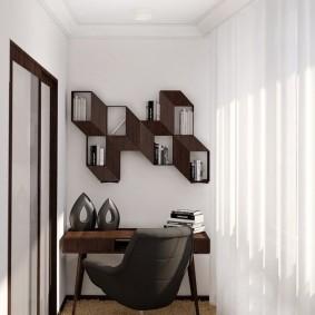 кабинет на лоджии балконе идеи интерьер
