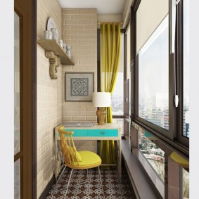 кабинет на лоджии балконе идеи интерьера