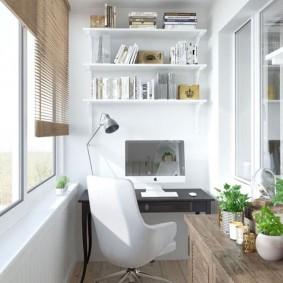 кабинет на лоджии балконе фото оформления