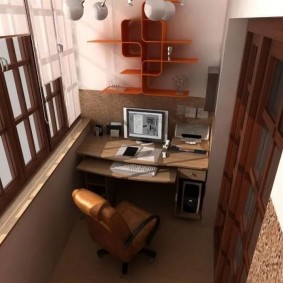 кабинет на лоджии балконе идеи оформления