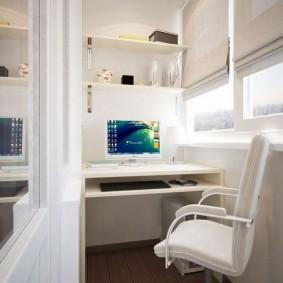 кабинет на лоджии балконе фото варианты