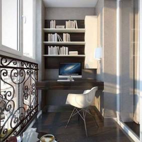 кабинет на лоджии балконе фото видов
