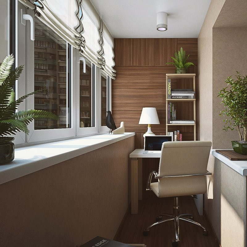 Балкон кабинет дизайн фото
