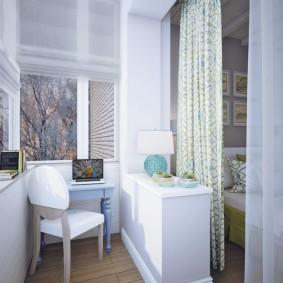 кабинет на лоджии балконе виды дизайна