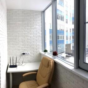 кабинет на лоджии балконе