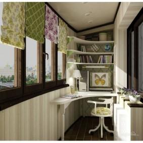 кабинет на лоджии балконе фото декора