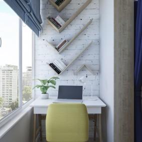 кабинет на лоджии балконе фото
