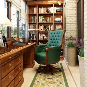 кабинет на лоджии балконе идеи